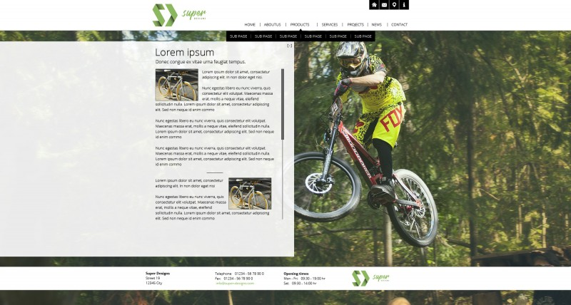 Inspiring Bike Shop HTML Template