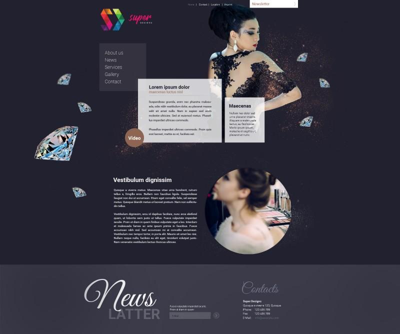 Glamorous HAIR & MAKEUP HTML Template