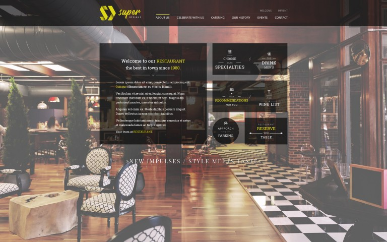 New Impulses RESTAURANT HTML Template