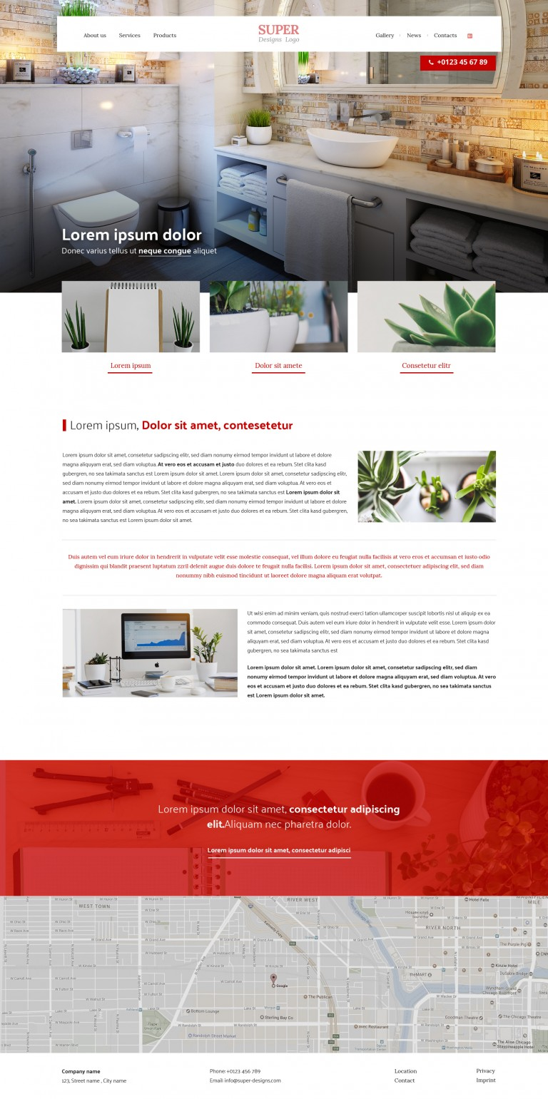 Lora baths PSD template