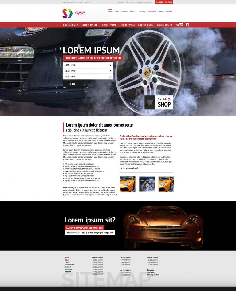 Auto Service HTML Template