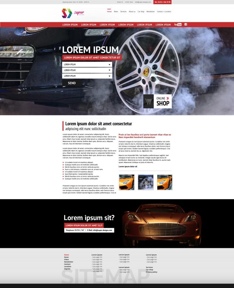 Auto Service PSD Template
