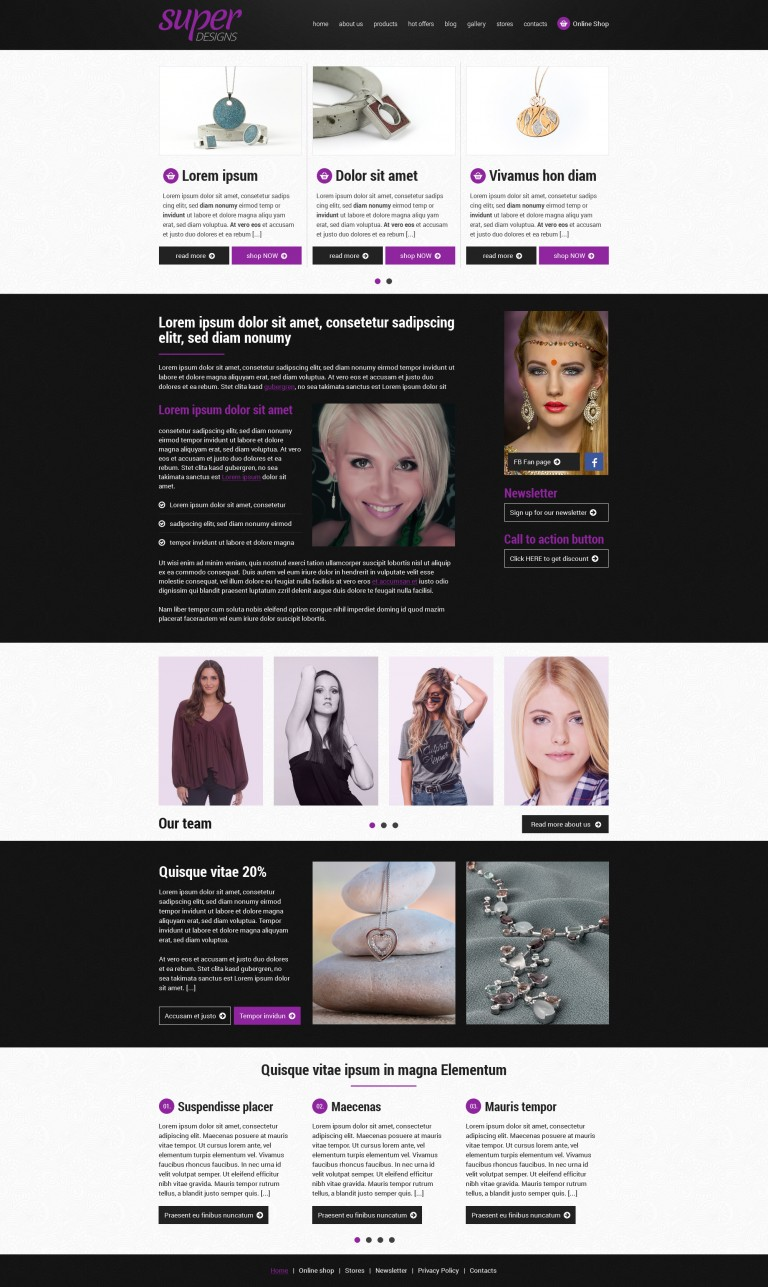 Steel heart Jewelery HTML Template