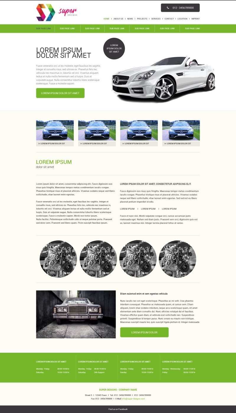 Automotive PSD Template
