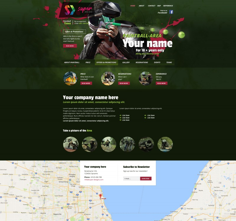 Paintball Aggressive HTML Template