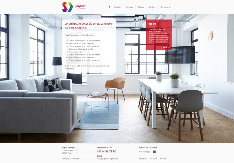 Interior Design Services PSD Template