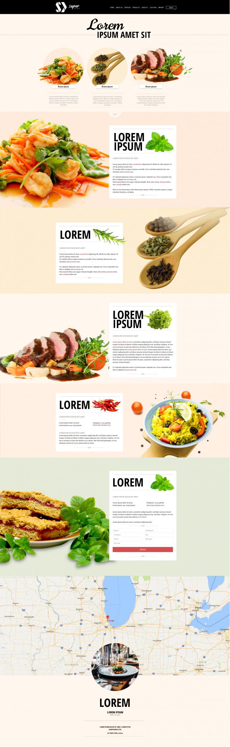 Mint FOOD & DRINKS PSD Template