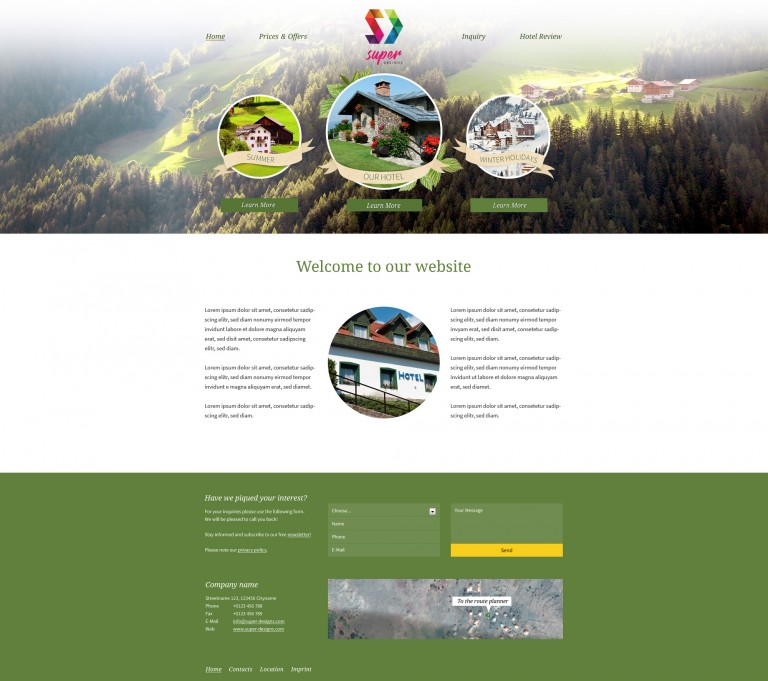 Mountain Rest House PSD Template