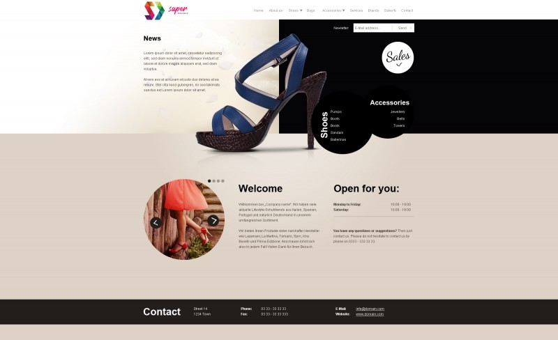 Urban FASHION PSD Template