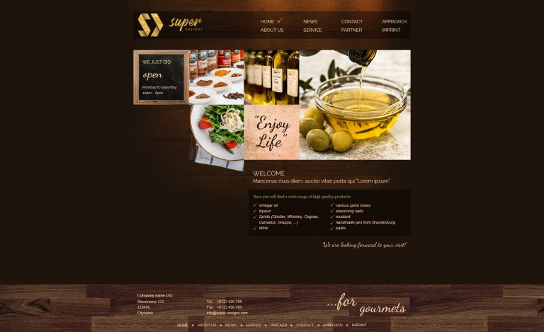 Enjoy Life Restaurant PSD Template