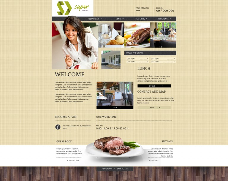 Delight Restaurant PSD Template