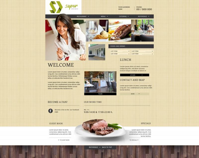 Delight Restaurant PSD Template