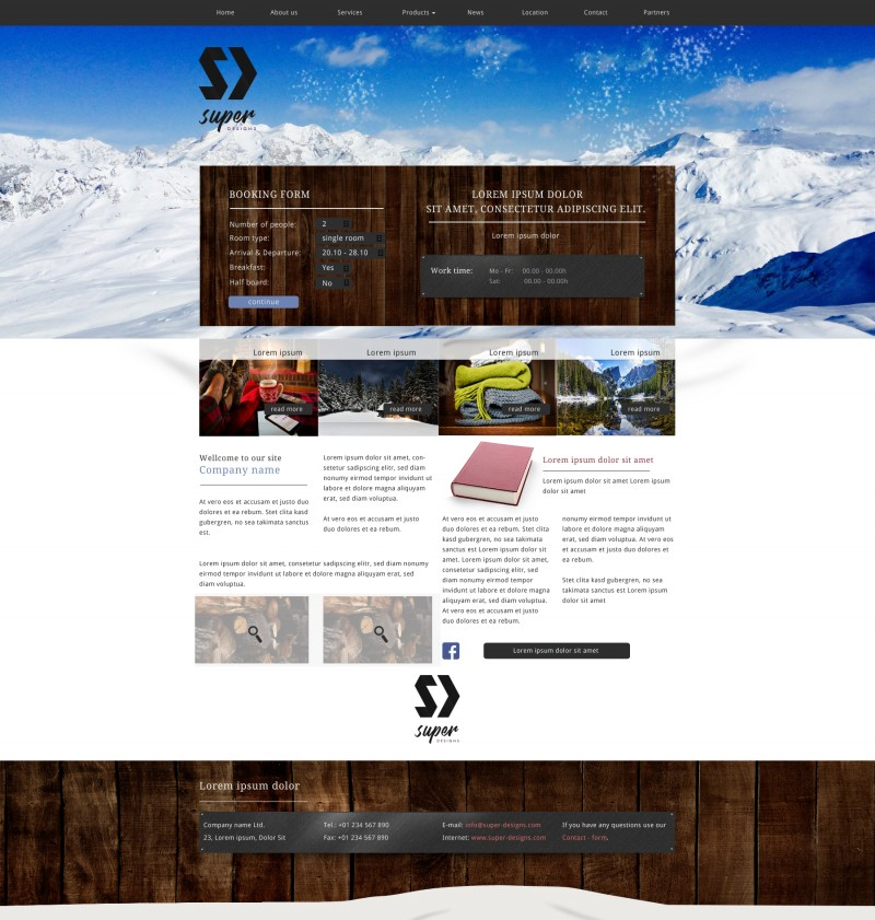 Winter Vacation Cozy PSD Template