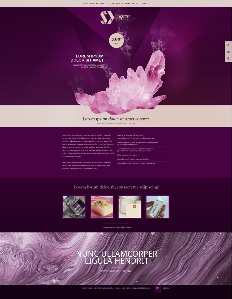 Purple crystal SPA HTML Template
