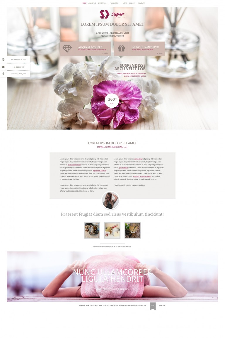 Silver flower Jewlery HTML template