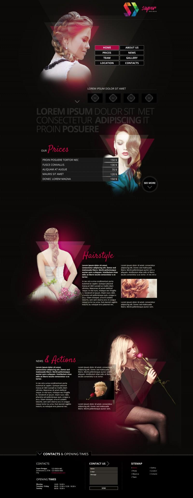 Fantastic Hair & Makeup PSD template