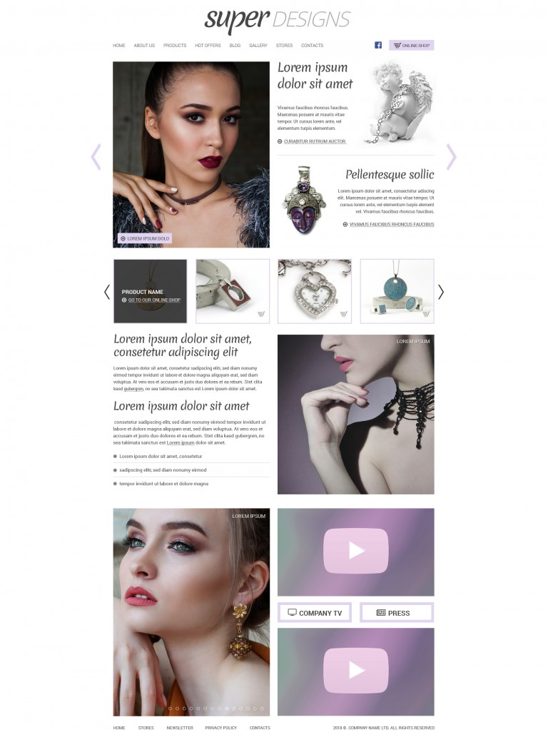 My silver Jewelery HTML template