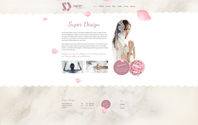 Rose ashes Fashion PSD template