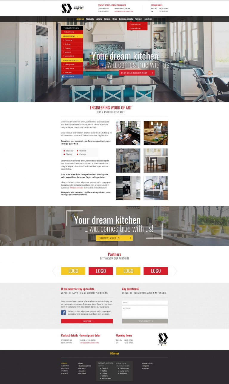 Prizma Furniture PSD template