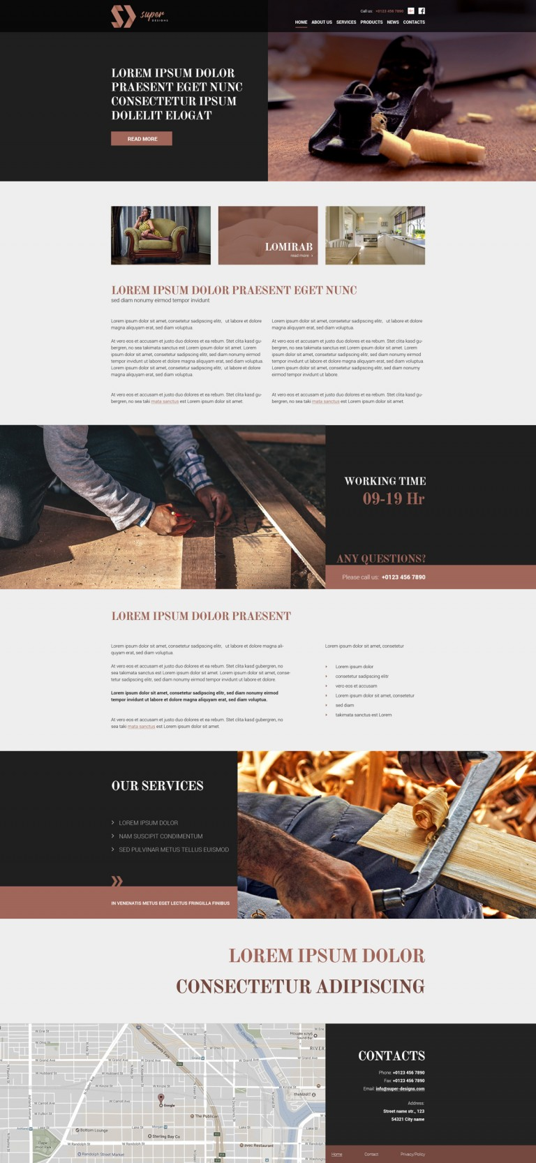 Carpentry Repairs HTML template