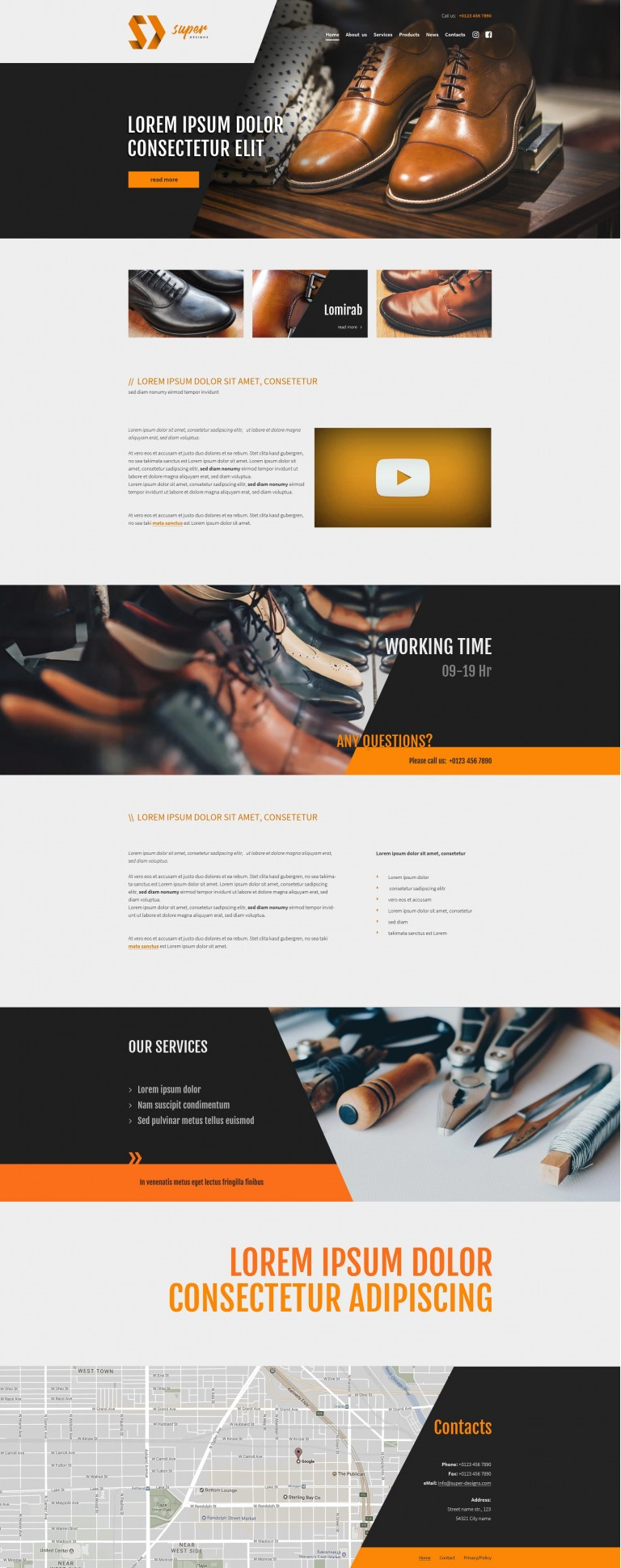 Leather shoes Fashion HTML template
