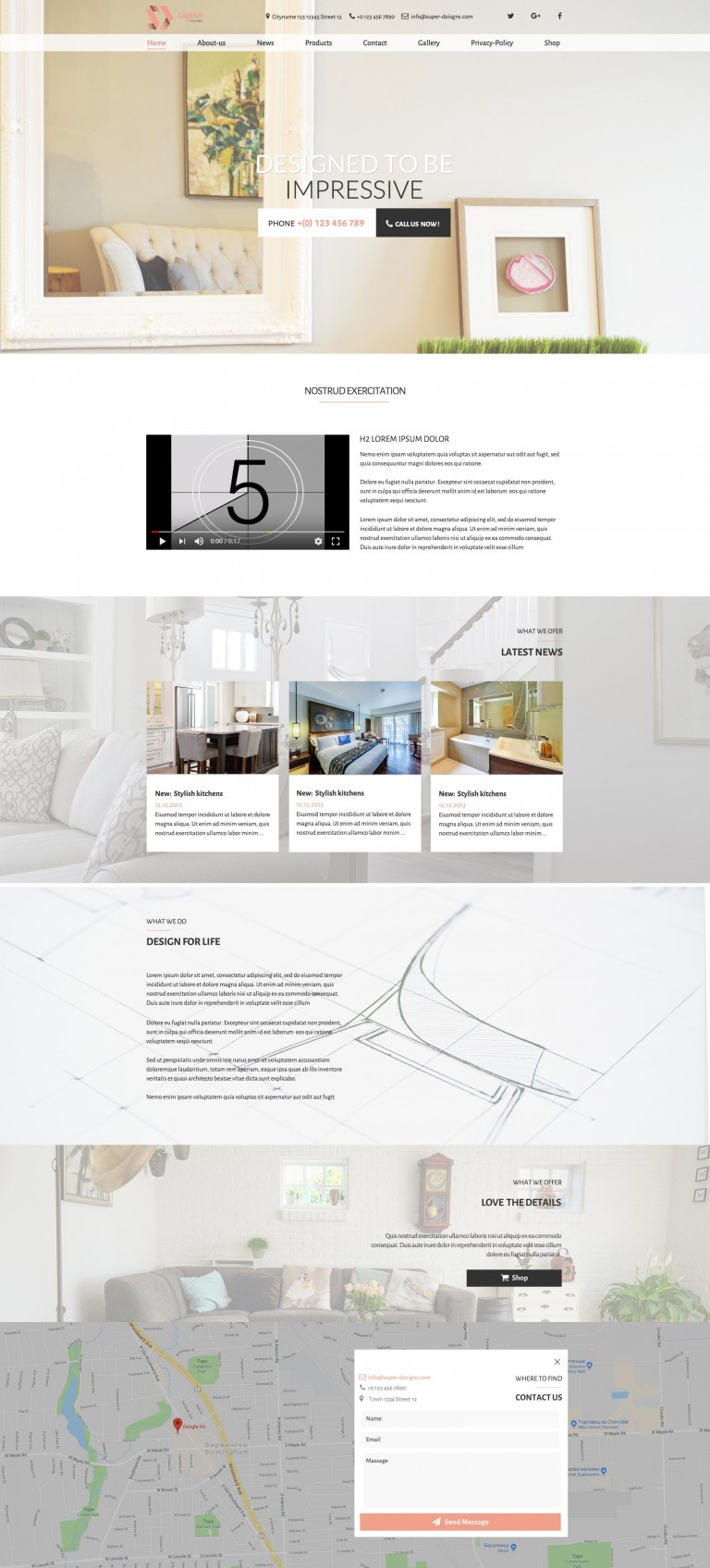 Impressive design FURNITURE PSD template