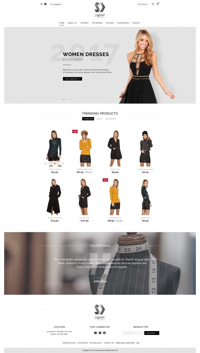 Dress me Fashion PSD Template