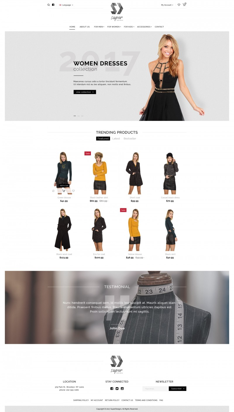 Dress me Fashion PSD Template