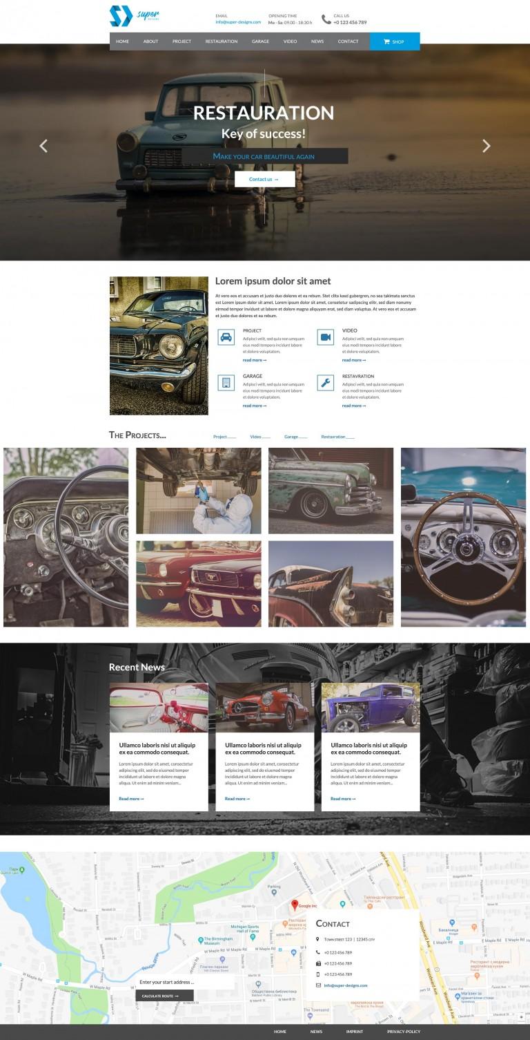 Restauration AUTO HTML template