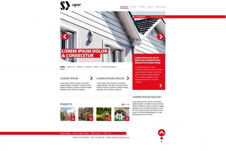 Construction BUILDINGS HTML template