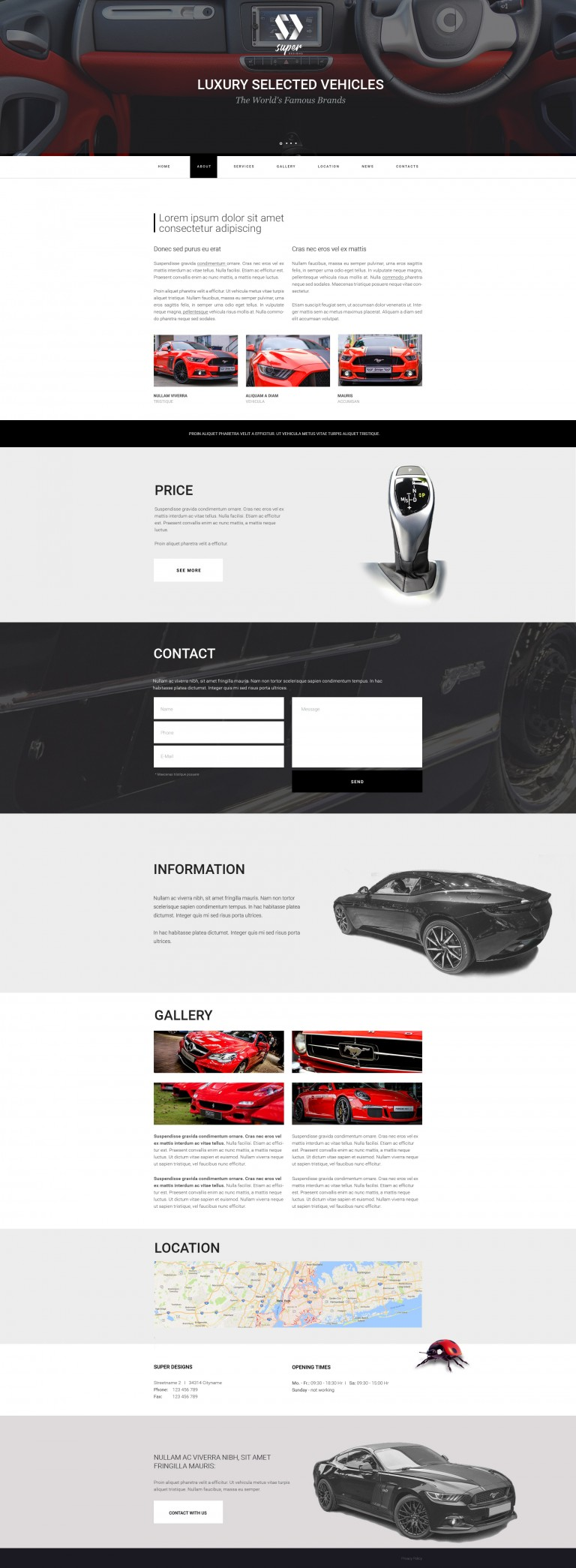 Luxury selected vehicles AUTO PSD template