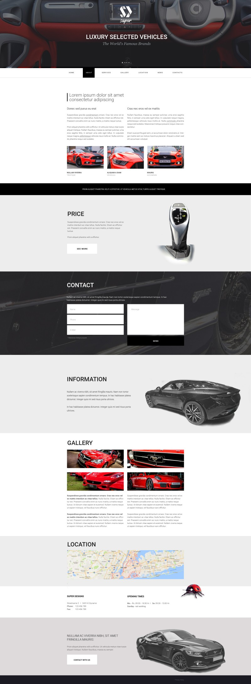 Luxury selected vehicles AUTO HTML template