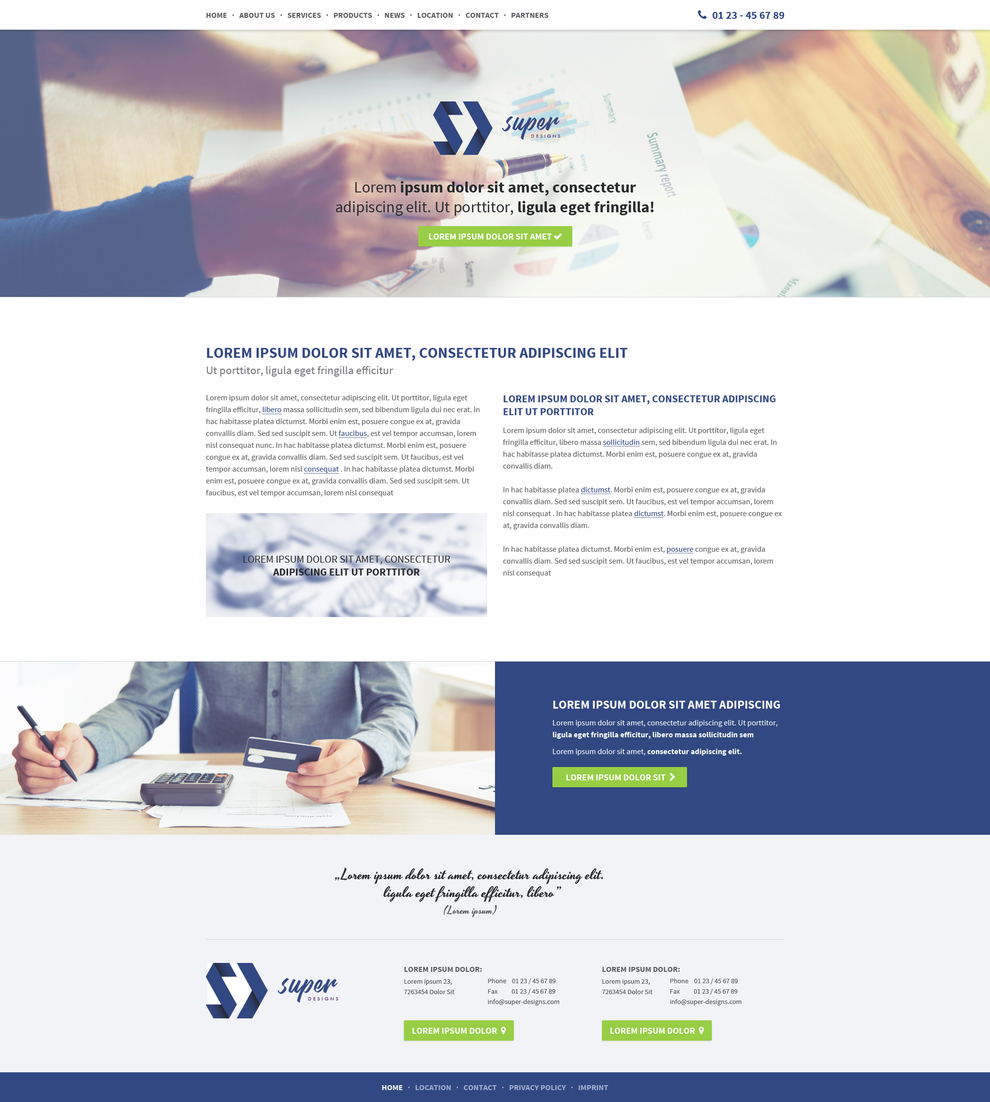 Value Business HTML Template - Privacy policy html template
